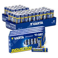 60x Mignon AA / LR6 UND 40x Micro AAA / LR3 Batterie Alkaline, Varta Industrial,