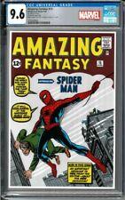 2018 Amazing Fantasy #15 Spider-Man 1 oz Silver Foil Cover CGC 9.6 - 1000 Made