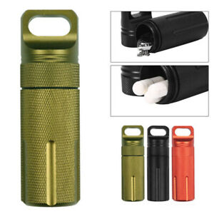 Survival Waterproof Pill Case Capsule Airtight Seal Bottle Container EDC Box 4""