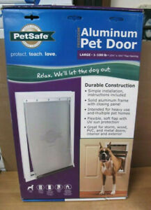 PetSafe LARGE Freedom Aluminum Pet Door for Dog up to 100 lbs PPA00-10861