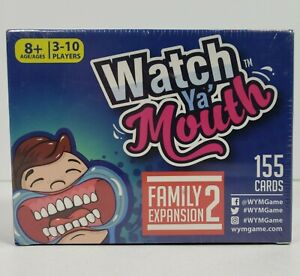 Watch Ya' Mouth Family Expansion Pack 2 Party Game 155 Cards