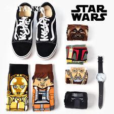 Fashion Mens Cotton Novelty Cartoon Star Wars Warm Crew Skateboard Long Socks