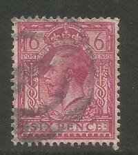 Great Britain 1912-13 King George V 6p rose lilac (167) fine used