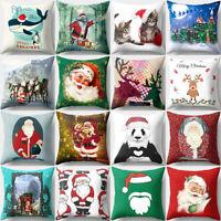 "GI- 18x18"" Christmas Pillow Case Sofa Car Throw Cushion Covers Home Decor"