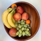 Large Vintage Teak Salad, Fruit Serving Bowl 13.5' x 4.5' inches