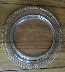 Vintage Imperial Glass Candlewick Birthday Cake Plate Platter 72 Candle Holes