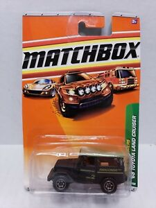 Matchbox Jungle Explorers '68 Toyota Land Cruiser Black Green 2009 HTF