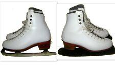Riedell Figure Ice Skates Mk 21 Sheffield England Blades! Child's Sz 3.5! Euc!