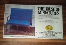 DOLL HOUSE OF MINIATURES QUEEN ANNE SETTEE KIT, c. 1730,  ANTIQUE REPLICA