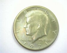 1971 KENNEDY SILVER 50 CENTS GEM+ UNCIRCULATED IRIDESCENT TONING!