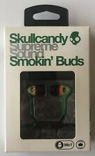 Skullcandy Supreme Sound Smokin Buds Earbuds with Mic1 in Rasta - New