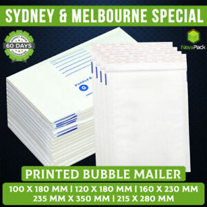 Bubble Mailer White  100x180mm 160x230mm 215x280mm Padded Envelope Bag Printed