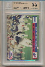1991 Pro Set Football 1990 Replay (Thurman Thomas) (#52) (3-9.5's/1-9) BGS9.5