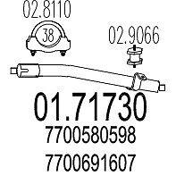 0171730 MARMITTA TUBO POST RENAULT R5 DAL 1976 AL 1984