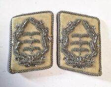 German WW2 Luftwaffe .H.G.Division Oberst collar tabs a pair onWhite background