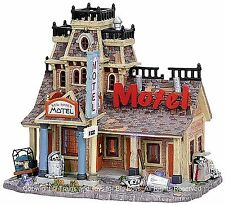 Lemax 75491 RED RIVER MOTEL Spooky Town Retired Lighted Building Halloween S O I