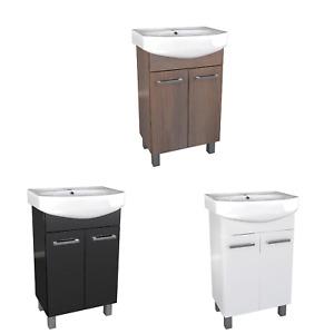 Waschbecken mit Unterschrank Master Waschtisch Badmöbel Set 3 Farben 40 50 60