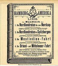 Hamburg Amerika Linie OFFERTEN Historische Annonce 1895