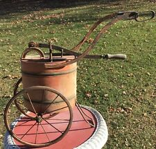 Vintage Garden Water Pump Container On Wheels