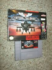 Steel Talons (Super Nintendo Entertainment System SNES, 1993) with Box GOOD