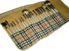 20 pcs MAKEUP White BRUSHES Cross POUCH SET CASE COSMETIC MINERAL BRUSH Beauty