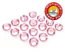 100 SWAROVSKI Kristalle Hotfix SS6 Light Rose (Strass-Steine Rosa zum Aufbügeln)