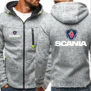 SCANIA Quality Softshell Jacket Coat Black Embroidered Sizes S-5XL