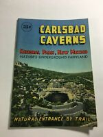 Carlsbad Caverns National Pk New Mexico 1960's Pamphlet Underground Fairyland