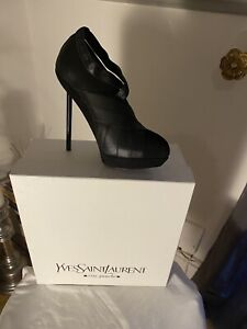 YVES ST LAURENT BLACK ANKLE BOOTS - NEW Size 3 UK / 36 Italian