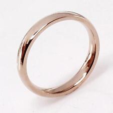 Edelstahlring Fingerring Ring Edelstahl Rose Gold Silber Damen Herren NEU