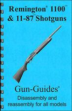 Remington 1100 11-87 Manual Book Takedown Shotgun Guide direct from Gun-Guides