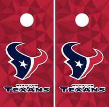 Houston Texans Cornhole Wrap NFL Game Skin Board Set Vinyl Decal Art CO80