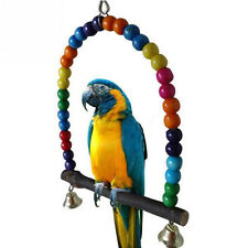 Pet Bird Parrot Wood Macaw Cage Swing Shelf Parrot Bites Play Games Funny