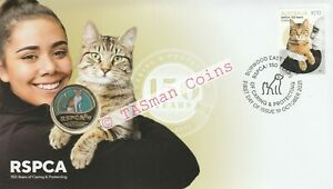 PNC Australia 2021 Cat RSPCA 150 Years Caring & Protecting RAM $1 Coloured Coin
