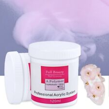 Nail Acrylic Powder Manicure Clear Pink White 1pcs Carving Crystal Polymer Art
