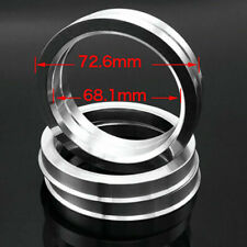 4pcs Alloy Customize Made Wheel Spacer Spigot Hub Centric Rings 72.6mm to 68.1mm