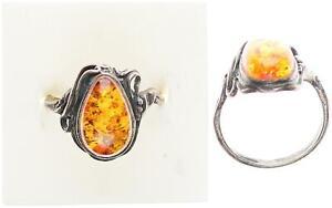 Bernstein Ring, Silber 925, 3,23g, 57 Ringgröße sehr guter Zustand