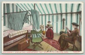 Yellowstone Park Wyoming~Wylie Two Compartment Tent~1920s Postcard