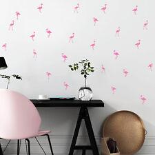 Flamingo 25teiliges Aufkleber Set Sticker Kinderzimmer Vogel hellrosa 12313