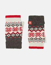 Joules Womens Swirlton Fairisle Fingerless Gloves - GREY FAIRISLE in One Size