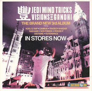 Jedi Mind Tricks Visions Of Gandhi Promo Sticker RARE Hip Hop JMT