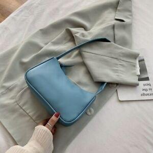 PU Leather Women Underarm Bag Retro Ladies Baguette Handbags Girls Shoulder Bags