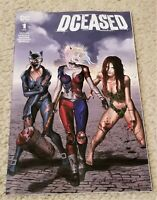DCEASED 1 GREG HORN WALKING DEAD 19 HOMAGE VARIANT-A HARLEY QUINN BATMAN HOT!!