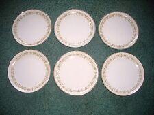 "6ea Sheffield Fine China Imperial Gold 504W Bread? Plate  6"" diameter"