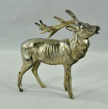 """Vintage Christmas Metal 3.5"""" Elk Made in Japan Minor Damage"""