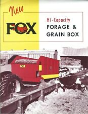Farm Equipment Brochure - Fox - Forage Grain Box Bunk Feeder - c1961 (F6656)