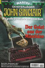 JOHN SINCLAIR Nr. 2095 - Der Geist aus der Maschine - Timothy Stahl - NEU