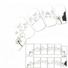 Tattoo Nagel Sticker Pusteblume Aufkleber Nail Art Flower Nägel Water Decal