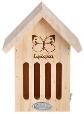 More details for butterfly hibernating house conservation nest slotted fsc wood hotel box 23cm