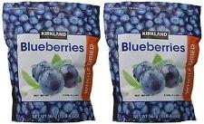 2 X 20 oz Kirkland Signature Whole Dried Blueberries Resealable Zipper bag